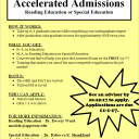 Accelerated Admission Flyer