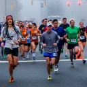 Runners on Rivers Street